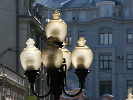 Street fixtures in city centre Moscow (Russia) in the street Arbat Stock Photo - 11328412