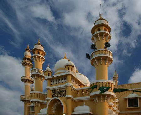Muslim (Arab) Mosque, Kovalam, Kerala, South India Stock Photo - 11319997