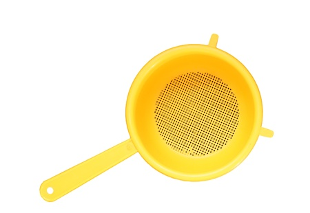 Plastic Colander, isolated Stock Photo - 11330225