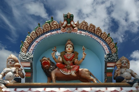 Traditional statues of gods and goddesses in the Hindu temple, south India, Kerala Stock Photo - 11320042