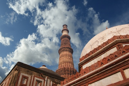 moguls: Kutab Minar (Qutab Minar). In 15 km to the south from Delhi gains of Delhi empire of moguls have started to build a complex of buildings in 1193, right after. Kutab-Minar - the complex tower - has been ended only in 1368.  Editorial