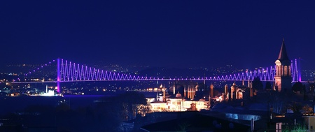Bosporus bridges, Istanbul, Turkey photo