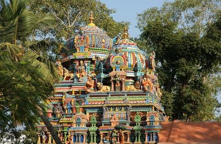 Traditional Hindu temple, South India, Kerala Imagens - 11330726