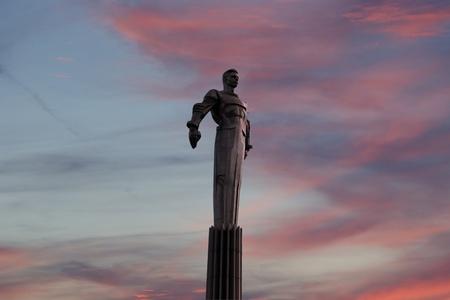 Yuri ガガーリンの記念碑、モスクワ、ロシア