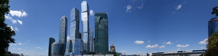 Panorama of the international business centre in Moscow, Russia, June 6, 2010