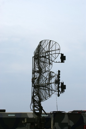 military mobile radar station against the blue sky, Russia photo