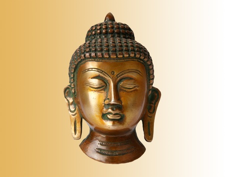 Buddha statue on a white background photo