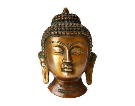 Buddha statue on a white background Imagens