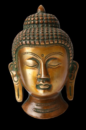 Buddha statue on a white background photo