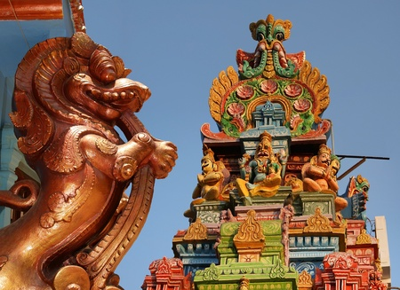 tamil nadu: Traditional statues of gods and goddesses in the Hindu temple, south India, Kerala