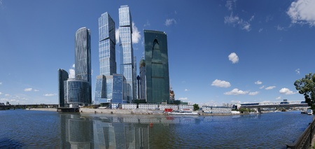 Panorama of the international business centre in Moscow, Russia