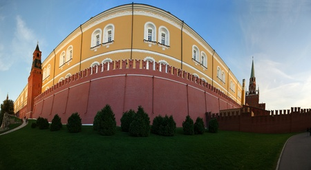 Panoramic image fragment Kremlin wall, Moscow, Russia Stock Photo - 11320073