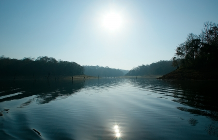 lake, Periyar National Park, Kerala, India