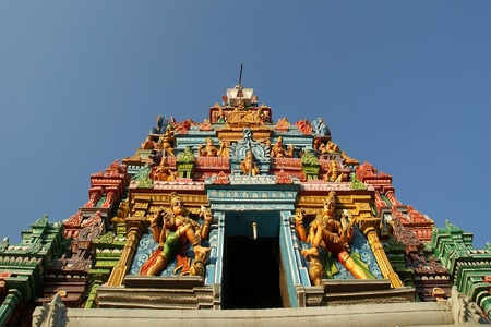 Traditional statues of gods and goddesses in the Hindu temple, south India, Kerala Stock Photo - 11332264