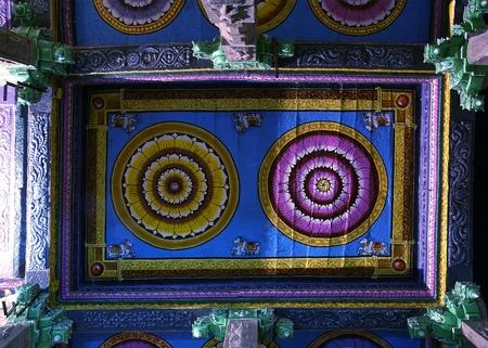 Ceiling Meenakshi Sundareswarar Temple in Madurai, South India