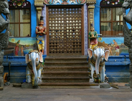 Inside of Meenakshi hindu temple in Madurai, Tamil Nadu, South India.  It is a twin temple, one of which is dedicated to Meenakshi, and the other to Lord Sundareswarar photo
