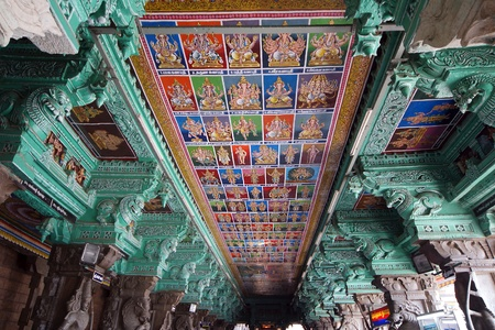 Ceiling Meenakshi Sundareswarar Temple in Madurai, South India Stock Photo - 11335977