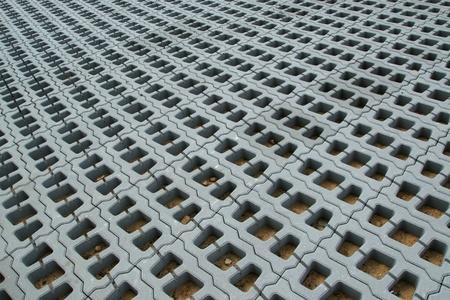 adoquines: Permeable Pavers (grid Lawn) de estructuras de hormig�n armado
