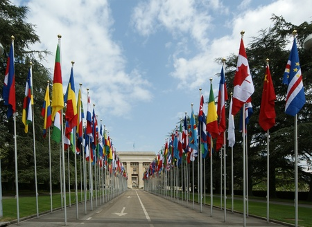 nazioni unite: Delle Nazioni Unite a Ginevra - Ginevra delle Nazioni Unite - Veduta di palazzo delle Nazioni Unite a Ginevra