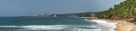 kovalam: Ocean coast (panorama), Kovalam, Kerala, South India