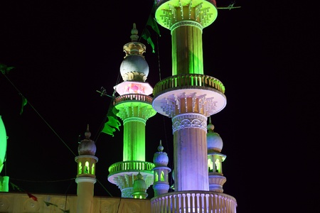 Muslim (Arab) Mosque, Kovalam, Kerala, South India Stock Photo - 11320122