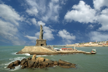 Thiruvalluvar statue, Kanyakumari, Tamilnadu, India. Stock Photo