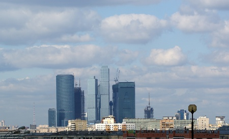 General view of the city of Moscow (international business centre) from a viewing platform near the building of Presidium of Russian Academy of Sciences Stock Photo - 11366127