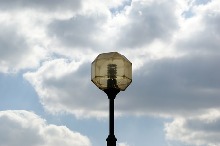 A street lamp (lantern) at the skyline photo