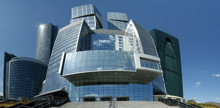 Panorama of the international business centre in Moscow, Russia,