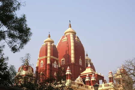 hindu temple: India, Delhi, magnificent religious Hinduism temple complex