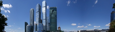 Panorama of the international business centre in Moscow, Russia, June 6, 2010 photo