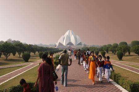 India, Delhi, Lotus Temple, or Bahaistsky house of worship