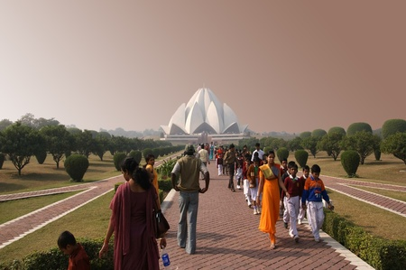 lotus temple: India, Delhi, Lotus Temple, or Bahaistsky house of worship Editorial