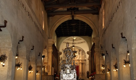 divinity: The interior of the Cathedral  OF SYRACUSE (Siracusa, Sarausa)-- historic city in Sicily, Italy