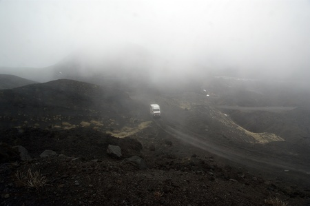 effusion: Etna volcano landscape at an altitude of 1,000 meters above sea level