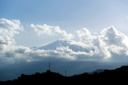 hardly: The little streak of white is Mount Etna, in fact (hardly visible). Sicily