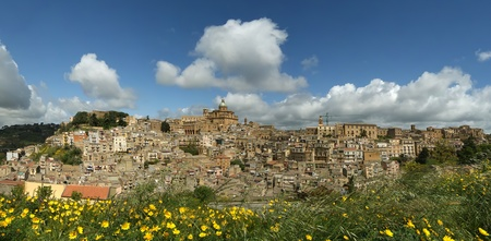 View of a typical ancient city, Sicilia, Agrigento Province photo