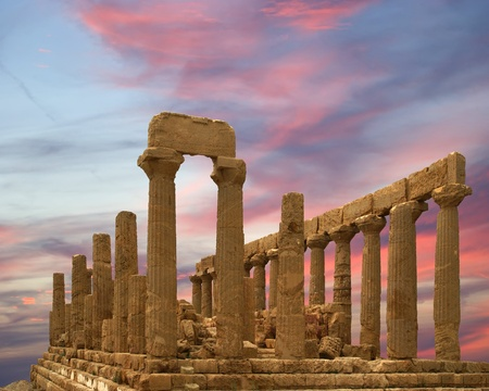valley of the temples: Ancient Greek Temple of Juno (V-VI century BC), Valley of the Temples, Agrigento, Sicily.