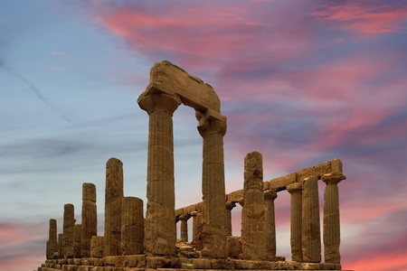 Ancient Greek Temple of Juno (V-VI century BC), Valley of the Temples, Agrigento, Sicily. The area was included in the Heritage Site list in 1997 Stock Photo - 12229212