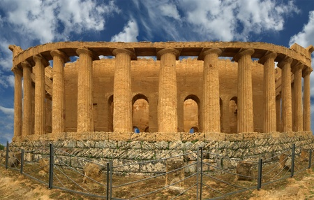 valley of the temples: Panorama Ancient Greek temple of Concordia (V-VI century BC), Valley of the Temples, Agrigento, Sicily. The area was included in the UNESCO Heritage Site list in 1997