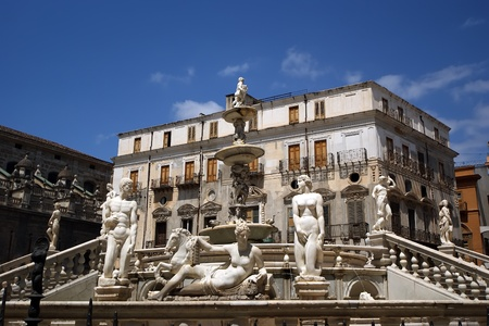 balustrades: Fontana Pretoria in Palermo, Sicily is also called Fountain of shame, because of the nude figures. Originally intended for a private Florentine villa and not a public square.
