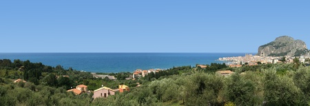 turistic: panoramic view of the Cefalu. Cefalu is a delicious historic and turistic town in the Palermos area. Sicily, Italy.