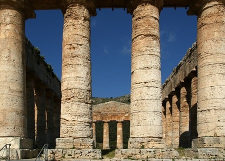 Classic Greek (Doric) Temple at Segesta in Sicily Stock Photo - 12229575