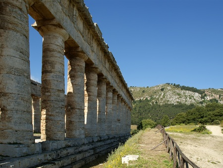 Classic Greek (Doric) Temple at Segesta in Sicily photo