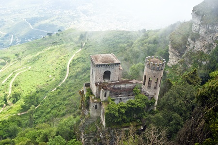 norman castle: Venus Castle at Erice, Sicily, Italy