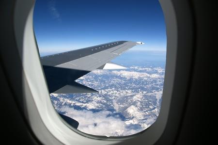 Aircraft illuminator window view