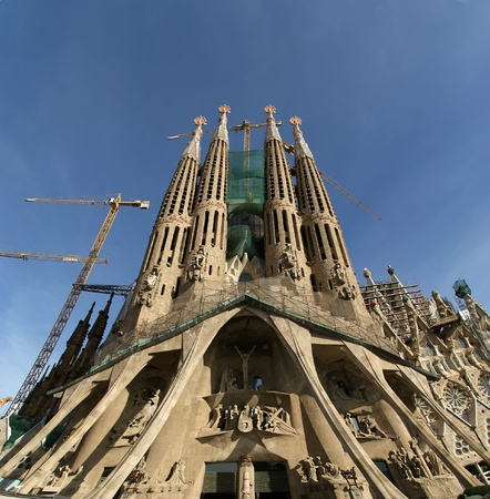 Sagrada Familia by Antoni Gaudi in Barcelona Spain Stock Photo - 12994219