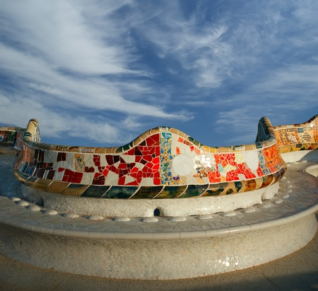 Gaudi's Parc Guell in Barcelona, Spain photo