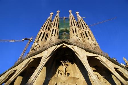 Sagrada Familia by Antoni Gaudi in Barcelona Spain
