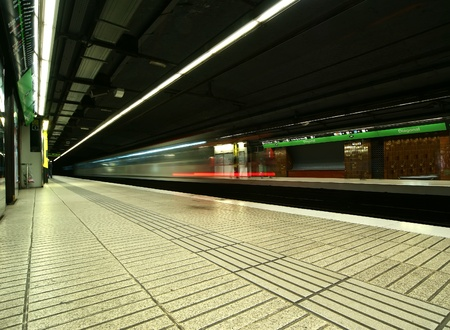 Subway in Barcelona. Moving photo Stock Photo - 12994190